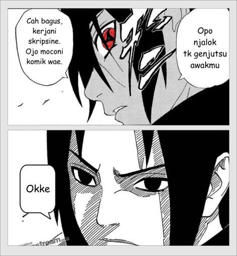 Nasehat Itachi untuk Sasuke